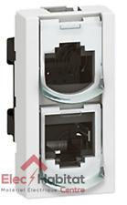 Prise doubleur RJ45 UTP 1 module 8 contacts Mosaic Legrand 76538