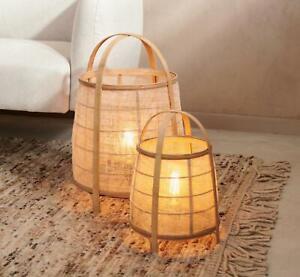 Wicker floor lamp , Rattan floor lamp , Natural floor lamp bamboo , Giant table