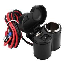 Waterproof Motorbikes Motorcycle USB Charger Mobile Power Socket Adapter 12V 24V