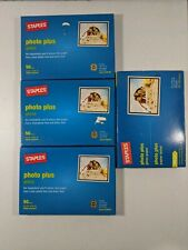Staples Photo Plus 4 X 6 in Glossy Paper x3-50 Sheets + 35 sheet Bonus=185 total