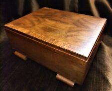 MID CENTURT SPLIT VENEER CIGARETTE/CIGAR BOX,EXCEPTIONAL QUALITY