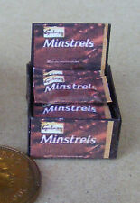 1:12 Display Box Of Minstrels Chocolates Packets Dolls House Miniature Sweets