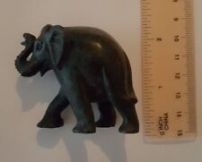 Black Marble Elephant Made In India Vintage Very Cute New