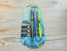 Pilot Frixion Set 3 Erasable Ball Point Pens | Black, Blue & Yellow Highlighter