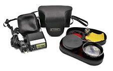 Lot Yashica Electro 35 GSN Suntar Lens Kit Vivitar Auto 252 Flash SB-1 AC Cord