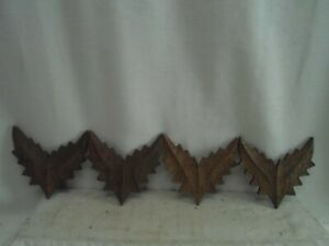 4 antique decorative wood cut outs, furniture / pic parts, great for crafts, # 2