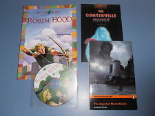 3 Libros en Inglés - The canterville ghost+The count of monte cristo +Robin hood