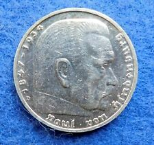 Germany 5 mark 1935 D III Reich Silver coin VF