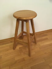 Wooden Bar Stool Home Dining Kitchen Pub Chair Oak Wood Furniture