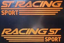 Ford focus fiesta mondeo  st racing  sticker vinyl (Orange) x2
