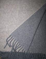 Lana Cuadros Doble Cara con lana de cachemira, colcha 130x170 cm 100% Lana