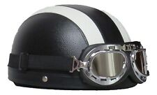 STING Halbschale CRUISER schwarz weiss Classic Helm inkl. Retro-Brille L 59/60