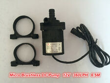 12Vdc Small Water Pump 40H-1265 360LPH 6.5M Submersible Pump Brushless Low noise