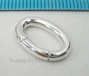 1x STERLING SILVER CHANGEABLE PENDANT CLASP BAIL SLIDE Donut Holder 15mm #2575