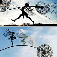 More details for metal flower fairy dandelions statues dance together yard ornaments garden decor