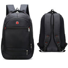 Black Men Women Laptop Backpack School Business Bag Outdoor Travel Bag