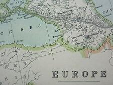 1910 MAP ~ EUROPE ~ AUSTRIA HUNGARY TURKEY SPAIN FRANCE BRITISH ISLANDS GERMANY