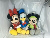 Disney Plush Doll LOT OF 3 Mickey Mouse & Friends ~ Minnie & Donald Duck 12 inch