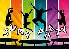 Coole Jump-Party-Einladungskarten zum Kindergeburtstag / zum Trampolin-Springen