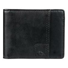 Quiksilver Mens ALL DAY WALLET Mens Faux Leather Wallet Money Clip New - Black