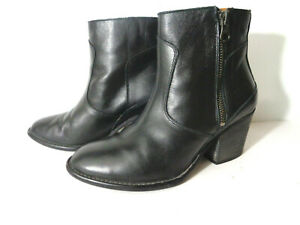 Hunter Refined Zip WMNs 5M Black Water Resistant Leather Western Boots ROMANIA