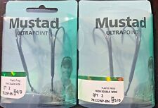 Mustad Hook Plastic Frog Double with Spring Keeper 2pk 78122NP-BN - Choose
