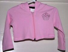 JENNA JESSIE 100% COTTON PINK HOODIE ZIP UP TOP - Size 18 months
