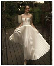 Short Wedding Dress Backless Sexy Strapless Bridal Dresses Sleeveless Beach Gown