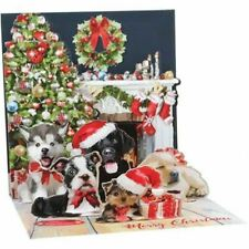 Pop-Up Christmas Card Trearures by Upwithpaper - Christmas Puppies