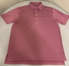 New listing Peter Millar Summer Comfort Golf Pink Blue Polo Poly Spandex Shirt Large L