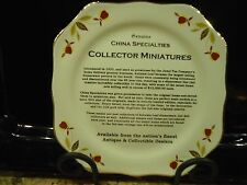 HALL CHINA SPECIALITIES JEWEL TEA AUTUMN LEAF 22K GOLD TRIMMED COLLECTORS PLATE