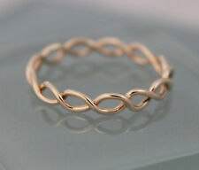 Twist Ring 14k  Gold Rope Woven Knot Infinity Wedding Band  SJR0008