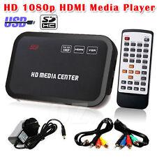 Full HD 1080p HDMI Media Player Center Romote Control HDD MKV SD USB TV Avi RM