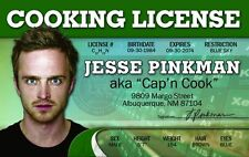 BREAKING BAD Jesse Pinkman Aaron Paul crystal meth Drivers License