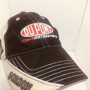 Jeff Gordon 24 Black White Fitted Hat Dupont Motorsports Hendrick