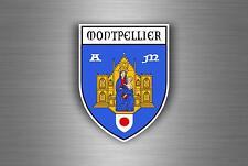 Sticker decal car bike motorcycle souvenir france flag city montpellier shield