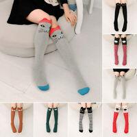 Baby Kids Toddlers Girls Cartoon Knee High Socks Tights Leg Warmer Stockings New