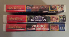 3 VHS lot Walt Disney Fantastic Adventures Series Treasure Island Swiss Family +