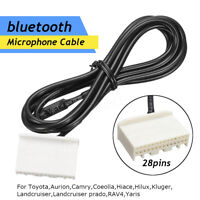 Microphone Cable Wiring bluetooth For Toyota Camry Hilux RAV4 Audio Head Unit
