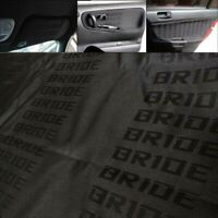 0.5m Black Bride Fabric Cloth JDM For Car Door Panel Armrest Headliner Decor