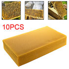 10 Sheets Natural Pure Beeswax Candlemaking Bee Wax Candle Crafts Fast Shipping
