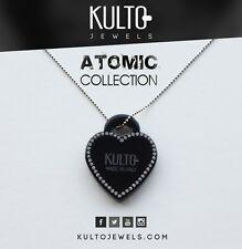 Collana Rosè Kulto Jewels con Cuore Nero Necklace