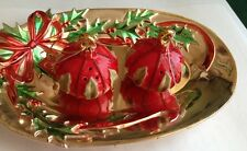 Grasslands Road MINI CHRISTMAS ORNAMENTS Salt & Pepper Shaker Tray Set*