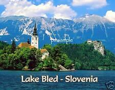 Slovenia - LAKE BLED - Travel Souvenir Magnet