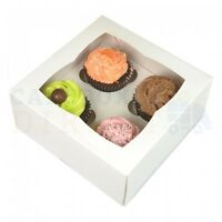 4 CUPCAKE BOX + DIVIDER CHEAPEST ON EBAY CHOOSE YOUR COLOUR & QUANTITY