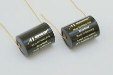 NEW version – 1 pair 0,010µf-1500v MUNDORF MCAP SUPREME EVO SILVER-Oro Film Cap