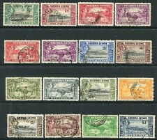 SIERRA LEONE-1938 Set to £1 Sg 188-200 FINE USED V20614