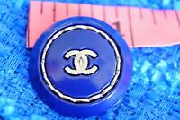 100% Chanel button 1 pieces  cc logo 25 mm 1 inch 💔💔💔metal blue XL