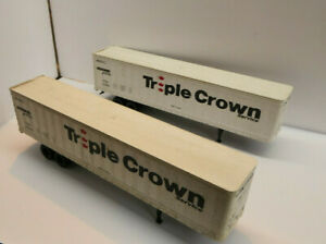 NS Norfolk Southern Pair of 45 foot truck trailers for Triple Crown used HO