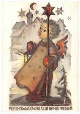 """vintage unused greeting cards  ARS SACRA B.I.Hummel """"merry christmas """"3768"""""""